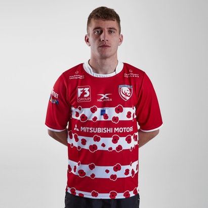 X Blades Gloucester 2018/19 Remembrance Day Poppy S/S Rugby Shirt