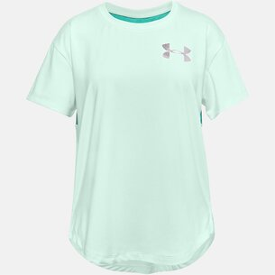 Under Armour Armour HeatGear Short Sleeve T Shirt Junior Girls