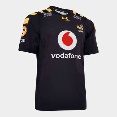 Under Armour Wasps 2019/20 Home S/S Players Test Rugby Shirt