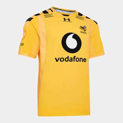 Under Armour Wasps 2019/20 Alternate S/S Players Test Rugby Shirt