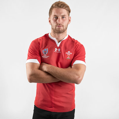 Under Armour Wales WRU RWC 2019 Home S/S Test Match Day Rugby Shirt