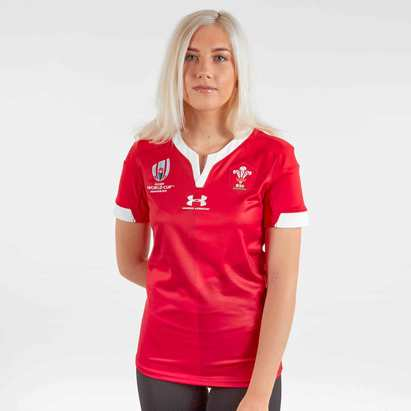 Under Armour Wales WRU RWC 2019 Ladies Home S/S Replica Rugby Shirt