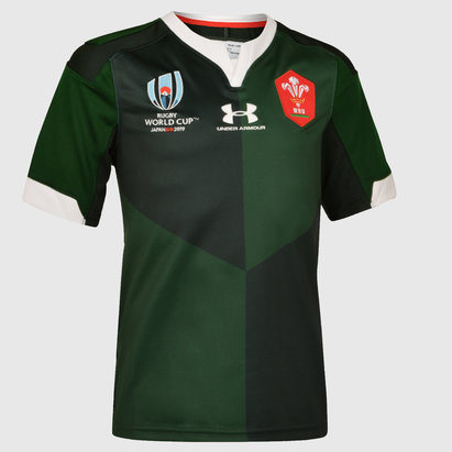Under Armour Wales WRU RWC 2019 Kids Alternate S/S Replica Rugby Shirt