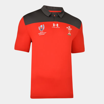 Under Armour Wales WRU RWC 2019 Players Rugby Polo Shirt
