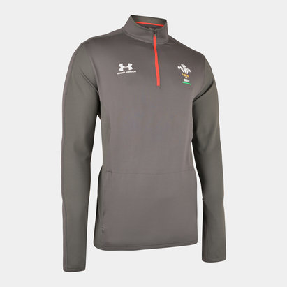 Under Armour Wales WRU 2019/20 Players 1/4 Zip Rugby Training Top