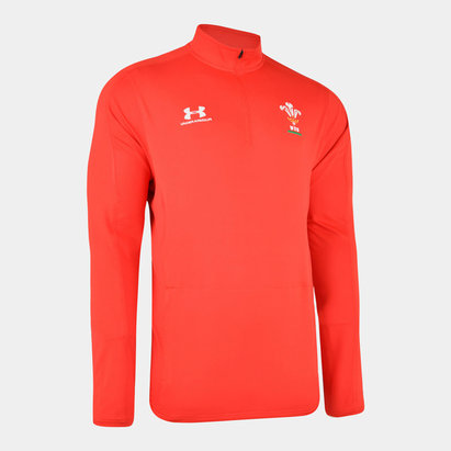 Under Armour Wales WRU 2019/20 Kids 1/4 Zip Rugby Training Top