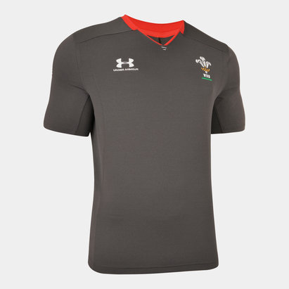 Under Armour Wales WRU 2019/20 Players Rugby Training T-Shirt