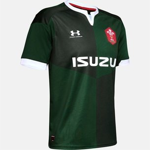 Under Armour Wales WRU 2019/20 Alternate S/S Replica Rugby Shirt