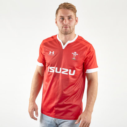 Under Armour Wales WRU 2019/20 Home S/S Replica Rugby Shirt
