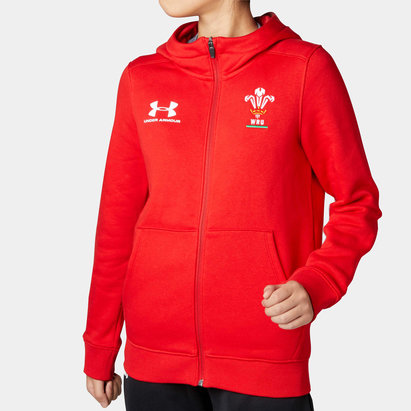 Under Armour Wales WRU 2019/20 Kids Rival Club Hooded Rugby Sweat