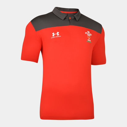 Under Armour Wales WRU 2019/20 Players Rugby Polo Shirt