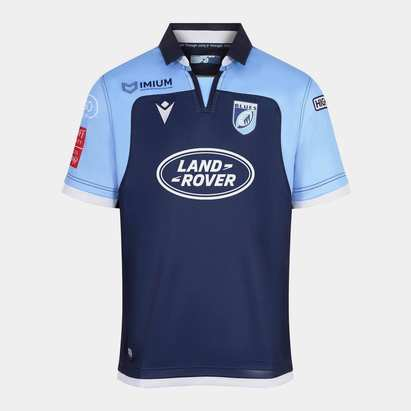 Macron Cardiff Blues 2019/20 Kids Home S/S Replica Rugby Shirt