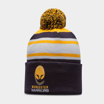 Worcester Warriors Text Rugby Bobble Hat