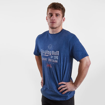 Raging Bull Great Britain Graphic Rugby T-Shirt