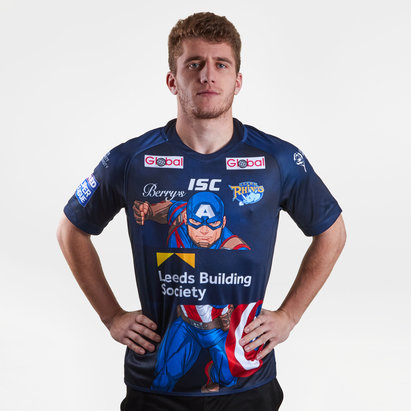 ISC Leeds Rhinos 2018 Captain America Marvel S/S Rugby Shirt