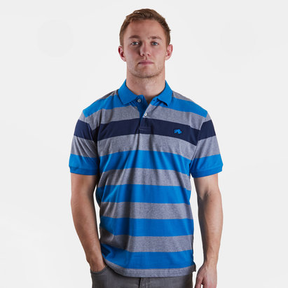 Raging Bull Contrast Stripe Rugby Polo Shirt