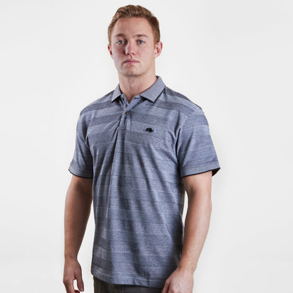 Raging Bull Stripe Oxford Pique Rugby Polo Shirt