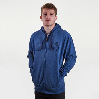 Raging Bull RB 03 Full Zip Hooded Rugby Sweat