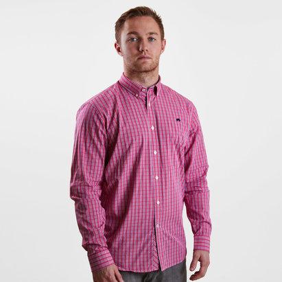 Raging Bull Micro Check Poplin L/S Shirt