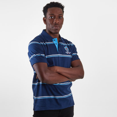 RWC 2019 Stripe Jersey Polo Shirt