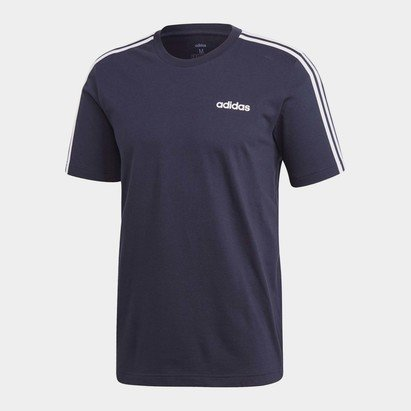 adidas Essentials 3 Stripes Mens T Shirt