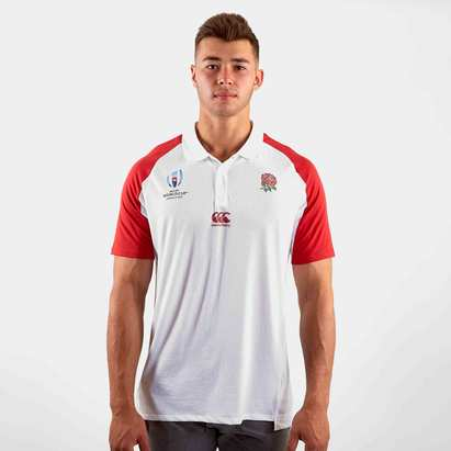 Canterbury England RWC 2019 Performance Rugby Polo Shirt