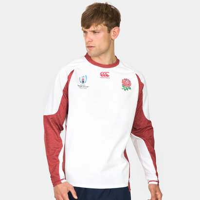 Canterbury England RWC 2019 Tech Drill Rugby Training Top