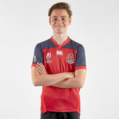 Canterbury England RWC 2019 Kids Alternate Pro S/S Rugby Shirt