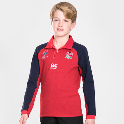 Canterbury England RWC 2019 Kids Alternate Classic L/S Rugby Shirt