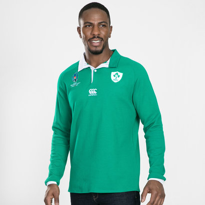 Canterbury Ireland IRFU RWC 2019 Home Classic L/S Rugby Shirt