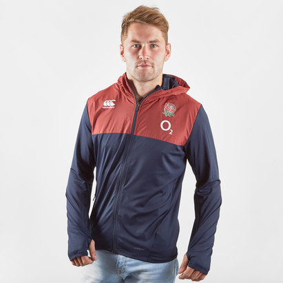 Canterbury England 2019/20 Full Zip Hooded Rugby Sweat