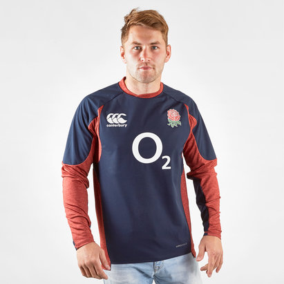 Canterbury England 2019/20 Players Tech Drill Rugby Top