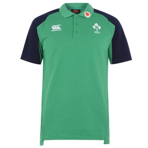 Canterbury Ireland IRFU 2019/20 Cotton Pique Rugby Polo Shirt