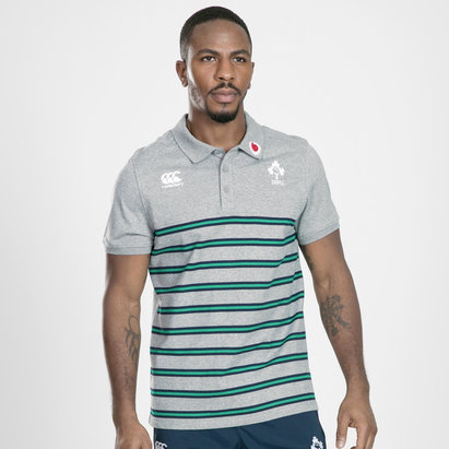 Canterbury Ireland IRFU 2019/20 Cotton Stripe Polo Shirt