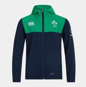 Canterbury Ireland IRFU 2019/20 Kids Full Zip Hooded Rugby Sweat