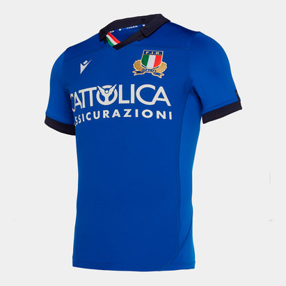 Macron Italy 2019/20 Home Test S/S Rugby Shirt