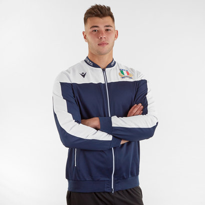 Macron Italy 2019/20 Players Full Zip Anthem Jacket