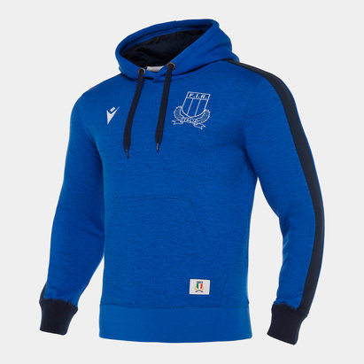 Macron Italy 2019/20 Players Travel Hooded Sweat