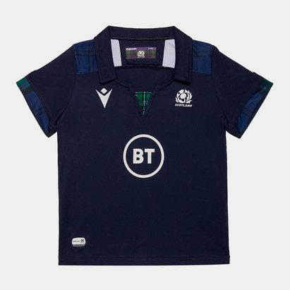 Macron Scotland 2019/20 Mini Kids Home S/S Replica Rugby Shirt