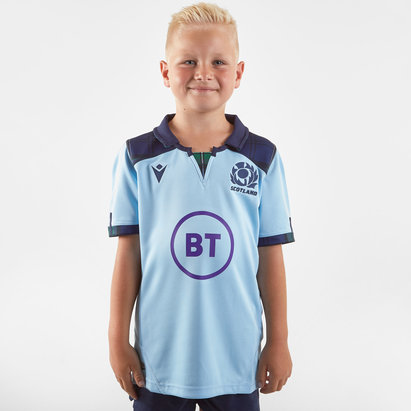 Macron Scotland 2019/20 Kids Alternate S/S Replica Rugby Shirt