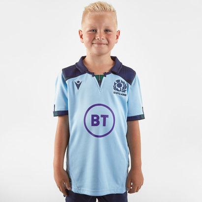 Macron Scotland 2019/20 Kids Alternate S/S Replica Rugby Shirt
