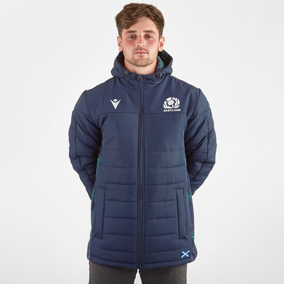 Macron Scotland 2019/20 Players Long Padded Rugby Jacket