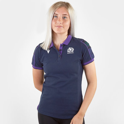 Macron Scotland 2019/20 Ladies Cotton Rugby T-Shirt