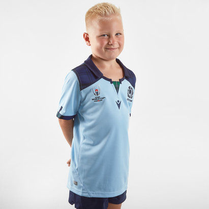 Macron Scotland RWC 2019 Kids Alternate S/S Replica Rugby Shirt