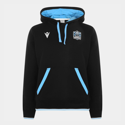 Macron Glasgow Warriors Rugby Hoodie Mens