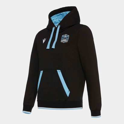 Macron Glasgow Warriors 2019/20 Kids Travel Hooded Rugby Sweat