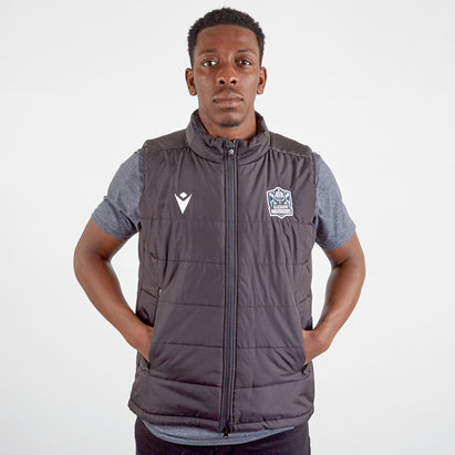 Macron Glasgow Warriors 2019/20 Players Travel Padded Gilet