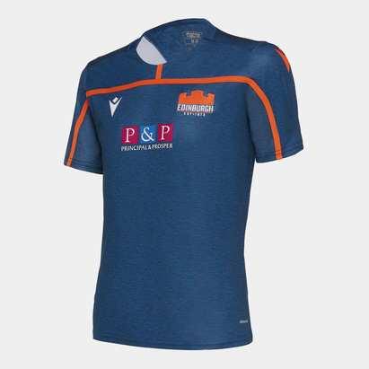 Macron Edinburgh 2019/20 Kids Rugby Training T-Shirt