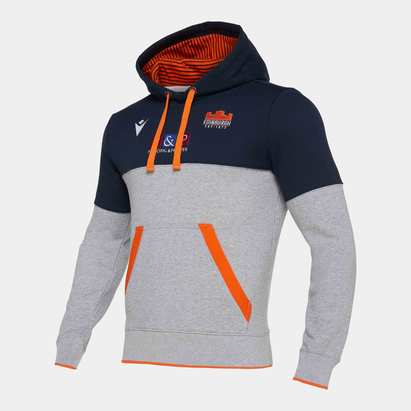 Macron Edinburgh 2019/20 Kids Travel Hooded Rugby Sweat