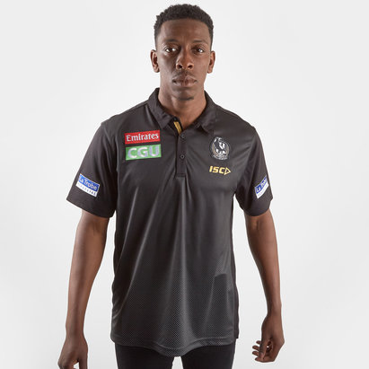 ISC Collingwood Magpies 2019 AFL Players Polo Shirt